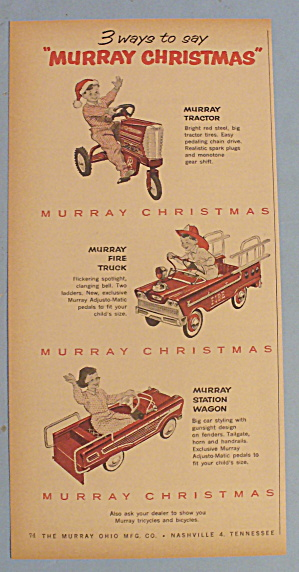 1959 Murray With Tractor, Fire Truck & Station Wagon