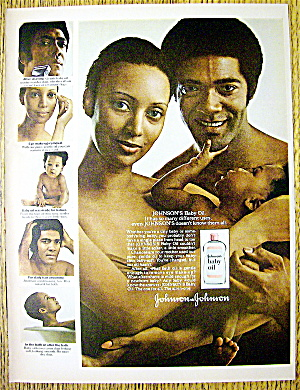 1975 Johnson's Baby Oil With Happy Family