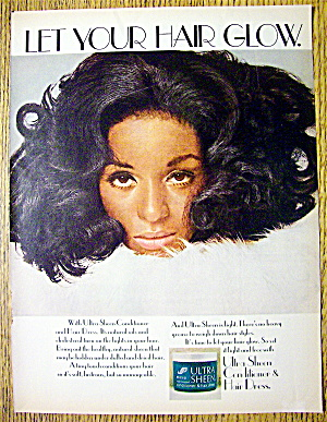 1969 Ultra Sheen Conditioner & Hair Dress With Woman
