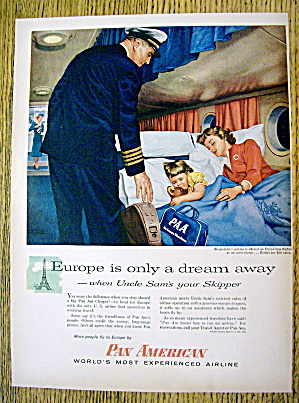 1956 Pan American With Woman & Child Sleeping W/girl