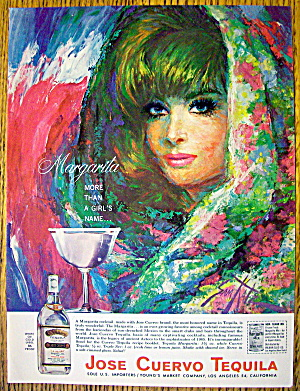 1965 Jose Cuervo Tequila With Lovely Woman