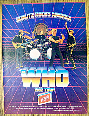 1982 Schlitz Beer With The Who Tour