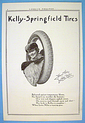 1913 Kelly Tires With Woman's Face In Tire