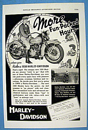 1937 Harley Davidson With The 1938 Motorcycle