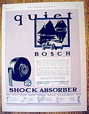 1926 Bosch Shock Absorbers With Old Fashioned Car
