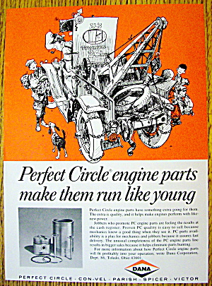 1968 Perfect Circle Engine Parts With Tow Truck