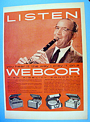 1957 Webcor Fonograp With Benny Goodman