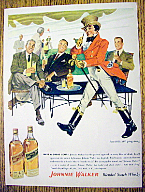 1954 Johnnie Walker With Men & Johnnie Walker