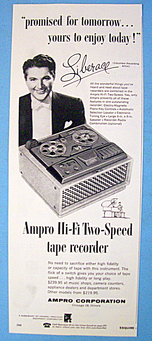1954 Ampro Tape Recorder With Liberace