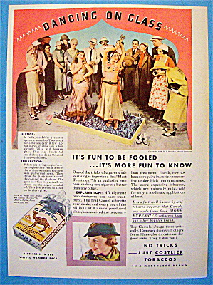 1933 Camel Cigarettes With Women Dancing On Glass