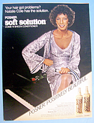 1980 Posner Soft Solution With Singer Natalie Cole