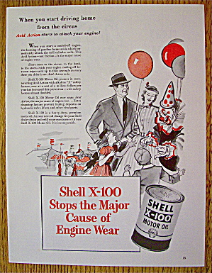 1953 Shell Motor Oil With Family At Circus