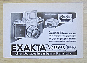 1952 Exakta Varex Camera With The Camera