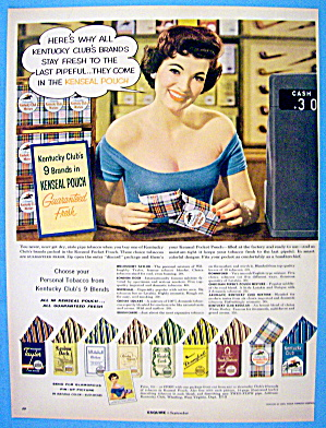 1956 Kentucky Club Tobacco With Kenseal Pouch