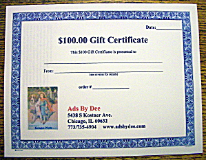 Ads By Dee $100 Gift Certificate