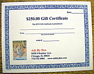 Ads By Dee $250 Gift Certificate
