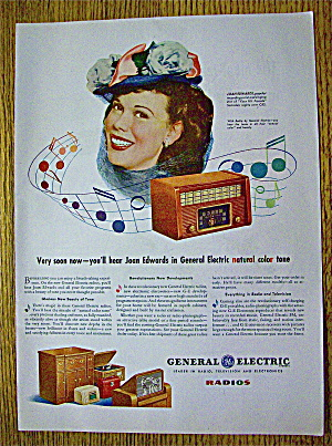 1945 General Electric Radio With Joan Edwards