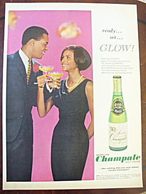 1966 Sparkling Champale W/ Man & Woman Toasting