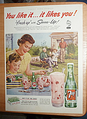 1952 7 Up (Seven Up) With A Boy Making A 7 Up Float