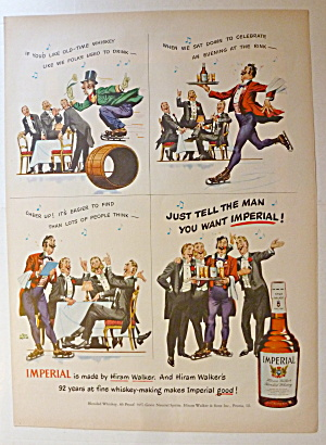 1950 Imperial Whiskey With Men Who Want Imperial