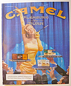 2003 Camel Cigarettes W/lovely Woman Holding Cigarette