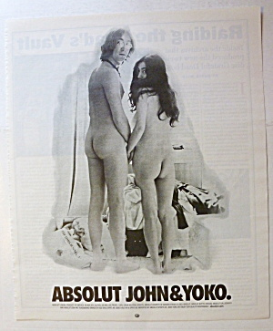 2001 Absolut With John Lennon & Yoko Ono