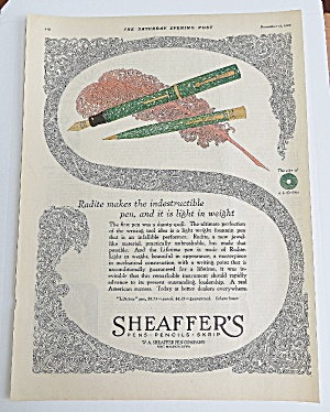 1925 Sheaffer's Pens With Pen & Mechanical Pencil