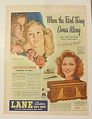 1950 Lane Hope Chest With Shirley Temple