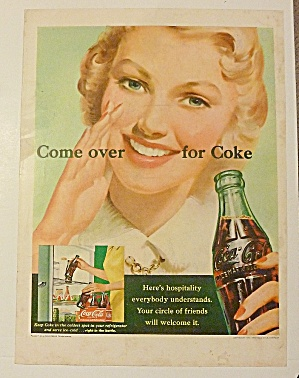 1951 Coca Cola (Coke) With Woman Smiling