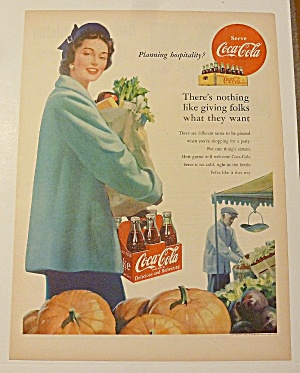 1952 Coca Cola (Coke) With Woman & Groceries