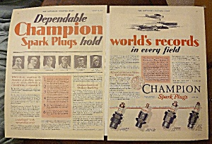 1928 Champion Spark Plugs With Spark Plugs