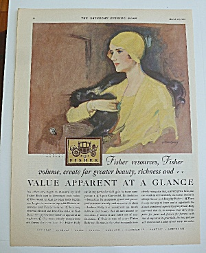1929 Body By Fisher With Lovely Woman In Yellow