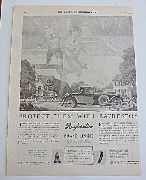 1929 Raybestos Brake Lining With Car Driving