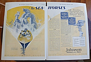 1929 Johnson Outboard Motors With Sea Horses