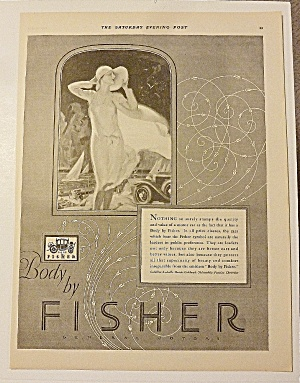 1928 Body By Fisher With Lovely Woman In Hat