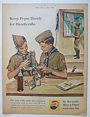 1960 Pepsi Cola (Pepsi) With Boy Scouts & Handicrafts
