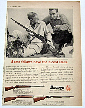 1958 Vintage Savage Model 6 Deluxe Gun With Man & Son