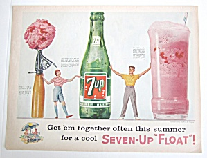 1958 7up With Seven Up Float