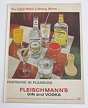 1963 Fleischmann's Vodka With Many Different Drinks