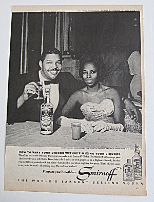 1963 Smirnoff Vodka With Coley Wallace
