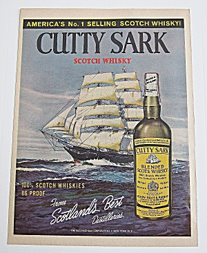 1963 Cutty Sark Whisky With Ship
