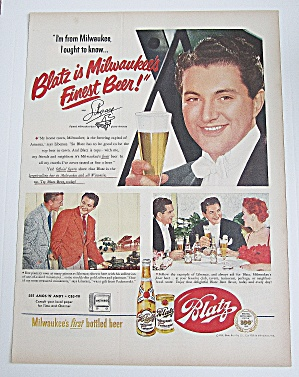 1951 Blatz Beer With Piano Player Liberace