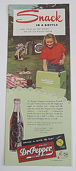 1947 Dr. Pepper With Woman In Soda Cooler