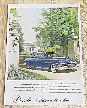 1950 Lincoln With The Cosmopolitan