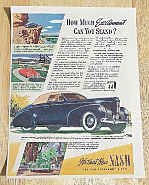 1939 Nash With The Convertible Coupe