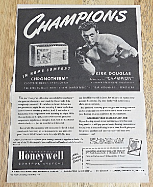1949 Honeywell Thermostat With Kirk Douglas