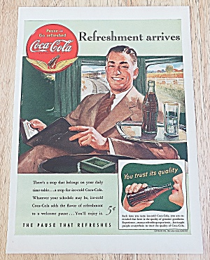 1941 Coca Cola With Man On A Train