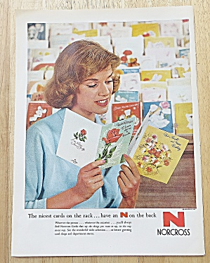 1958 Norcross With Woman Picking Out Birthday Card