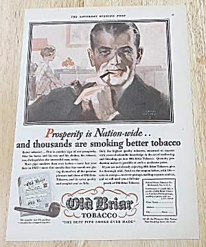 1929 Old Briar Tobacco With Man Smoking