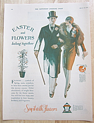 1929 Say It With Flowers With Couple At Easter